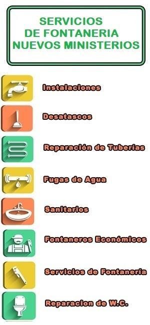 servicios de fontaneria en Nuevos Ministerios
