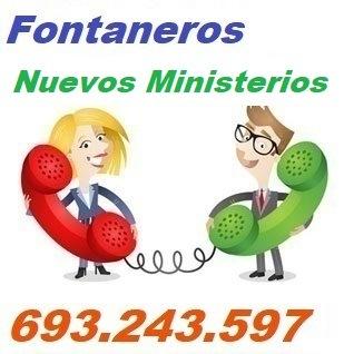 Telefono de la empresa fontaneros Nuevos Ministerios